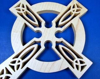Cross / Celtic Design / Wall Decor / Hard Maple Wood