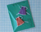 Petite Blythe Dresses Pair - gingham - purple and orange