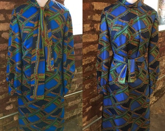 Spectacular Silk 1960s Shift Dress