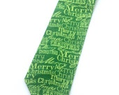 Little Guy Holiday NECKTIE Tie - Green Merry Christmas - (2T-4T) - Boy Toddler - (Ready to Ship) Christmas