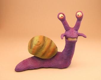 Purple Snail Clay Sculpture