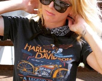Vintage 1986 Harley Davidson Shirt- Size Medium