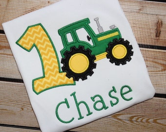 Personalized Birthday Shirt Tractor Number~ Tractor Birthday Shirt