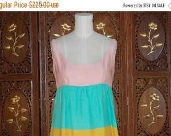 ON SALE Vintage 1960s POLLY Peck Pastel Striped Dress