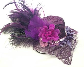 Stunning Purple Micro Top Hat