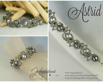 Astrid, needle tatted bracelet pattern