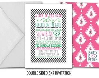 Sweet Girl Baby Q Invitations
