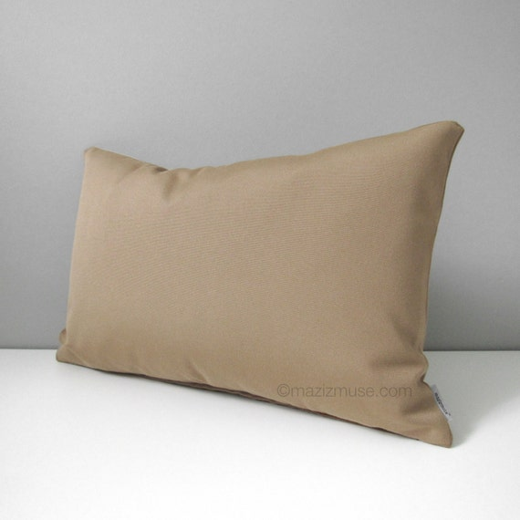 Light Brown Decorative Pillows : Camel Brown Outdoor Pillow Cover Decorative Light Brown Throw