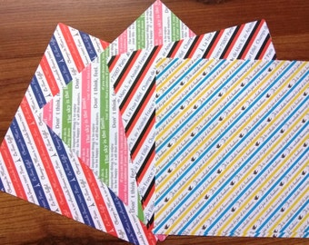 Origami Paper - Chiyogami  French in Stripes