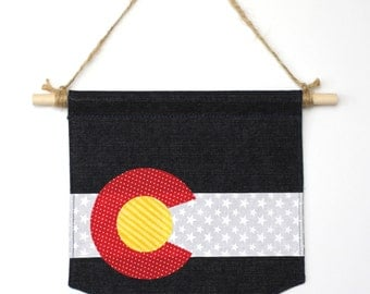 Colorado Flag Wall Banner - Wall Penant  - Wall Flag - State Flag