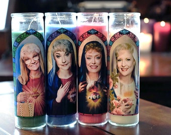 Golden Girls Prayer Candles / Set of 4 / Dorothy, Rose, Sophia and Blanche