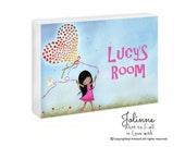 Custom Baby Name door sign, Personalized Nursery Door Sign, Girls Bedroom Sign, Custom name hair and skin color,kids room signs,kids artwork