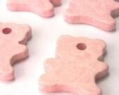ON SALE Greek ceramic bear silhouettes-pink