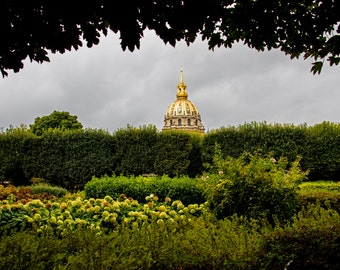 Rodin Gardin And The Dome Of Les Invalides