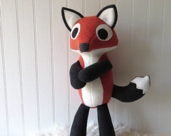 Orange Fox Plush, Plush Fox, Fox Doll, Toy Fox, Fox Stuffie
