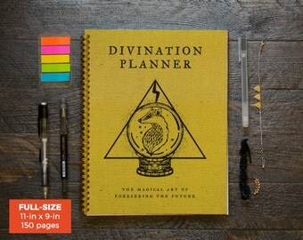 Divination Planner - Yellow / Weekly / Full-Size / 12 Months / Choose Your Layout (Vertical or Horizontal) / Pick Your Starting Month