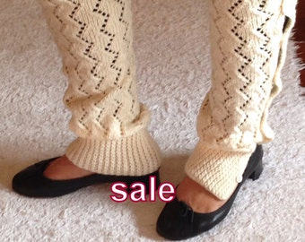 Christmas Gift, Ivory, Leg Warmers, Cosy, Warm, Gift For Her, Was 45, Now 35
