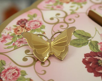 Pretty vintage butterfly brooch