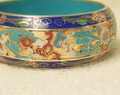 Stunning Large Gold Gilt Chinese Export Cloisonne Bracelet Vintage Bracelet Chinese Export Jewelry