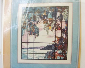 Louis Comfort Tiffany, View of Oyster Bay, Counted Cross Stitch Kit, Kappie Originals 1993 NIP
