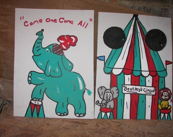 New 2  games elephant    and  circus  games with   4 rings  and  4  bean bags