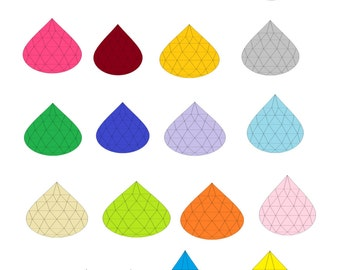 21 Teardrop Gem-Digital Immediate Download-ClipArt-Art Clip-Banner-Gift Tag-Website-Gift Card-Jewelry.