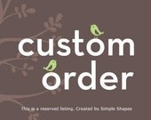 Custom Listing for kaoriyin