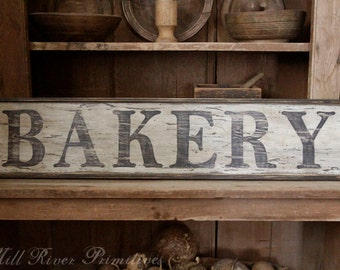 Early looking Antique Primitive BAKERY Wooden Sign