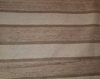 Railroaded SATIN STRIPE Beige Tan Cream Brown Woven TEXTURED Upholstery Fabric 18-42-02-0612