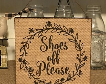 Exceptional Farmhouse Decor,Shoes Off Please,Please Remove Your Shoes,Welcome Sign,Door