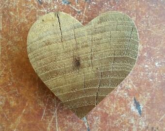 Beautiful spalted pecan heart magnet OOAK, kitchen decor, wedding favors