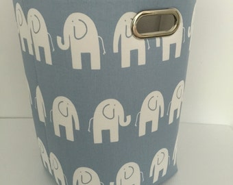 Laundry bin, Laundry Hamper, Toy Basket for the Nursery Elephant 12 x 10 x 20 Choose your colors water repellent linings available