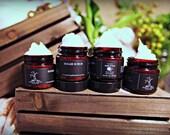 Mini Sugar Scrub Set (4) 1 oz, Soap, Foaming Scrub Poison Apple Apothecary