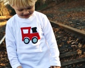 Boys Train Shirt in Red and Blue Sizes 12m-6