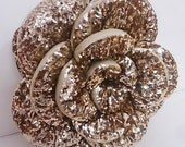 """gold sequins rose glamour  pouf/cushion/pillowin the size 18""""x18"""",decorative handmade pillow,bed pillow,home decor,acent pillow,homefashion"""