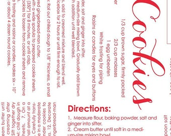Cozy Christmas - Cozy Recipe ( Red on White background ) - Lori Holt - Riley Blake Designs in stock May 3