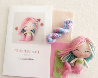 Rainbow - Chibi Mermaid Pattern Kit