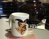 Customized Coffee Mug -  Personalized Mug, Using picture of your own dog - Sympathy Mug, Sympathy Gift Mug