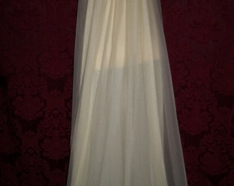 Vintage 50s Long Chiffon and Lace Nightgown By Intime of California