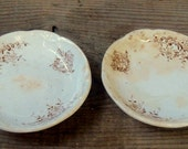 Antique ironstone butter pats Brown transferware butters Farmhouse Decor Victorian Farmhouse Style Two (2) butter pats