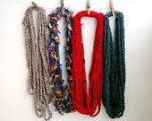 Crochet chain scarfnecklaces, infinity chain scarf, winter fashion accessories