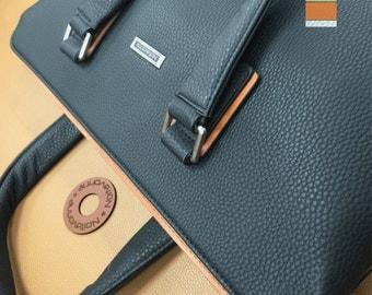 Genuine Calf Leather Executive Tote (Optional 2 Sizes)