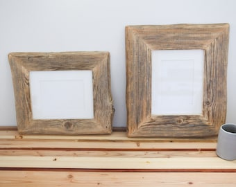 TWO 8x10 Reclaimed Farm Wood Artwork or Photo Frame Collection