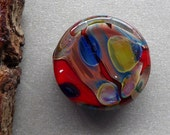 Destash Small Lampwork glass focal bead by Pamela Wolfersberger.