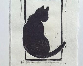 Original Fine Art Relief Print,Noir