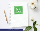 Monogram Mini Journal | Swiss Dot Pattern | Personalized Notebook | Custom Colors