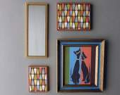 modern wall art - Cool Cats Atomic  - a 4 pc wall art collection