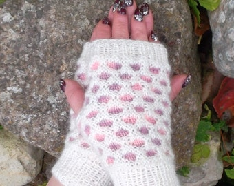 Knit Fingerless Mittens  Gloves ready to ship
