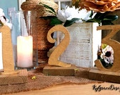 Wedding table numbers 1-25 Stand alone Special occasion  table numbers Select finish at checkout  Wedding/Party/Baby Shower/Special Event