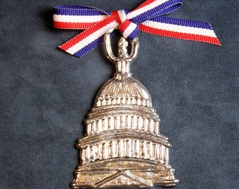 U.S Capitol Pewter Ornament